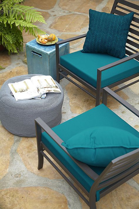 Outdoor Patio Cushions With Summer Style Teal Outdoor Furniture