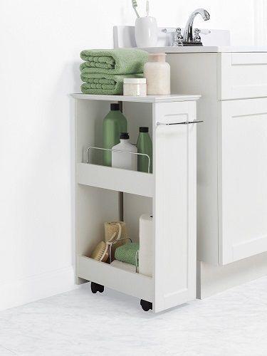 Bathroom Storage Shelf Rolling Cart, Bathroom Caddy On Wheels