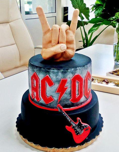 Ac Dc Cake Torte 50 Geburtstag Rock Kuchen Und