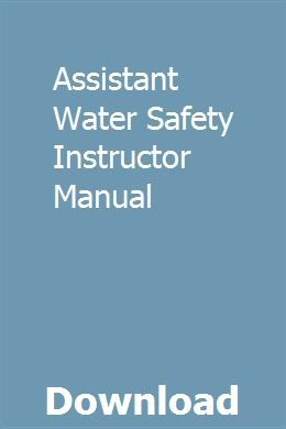 Water safety instructor's manual (r. 14) | red cross store.