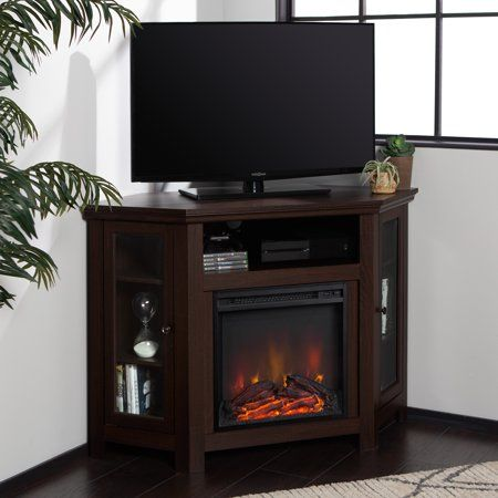 Walker Edison Corner Fireplace Tv Stand For Tv S Up To 52 Inch
