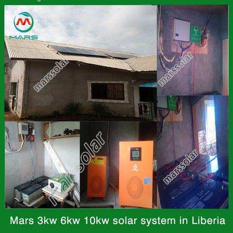 3kw Solar System In Liberia In 2020 Solar Solar System Off Grid Solar Power