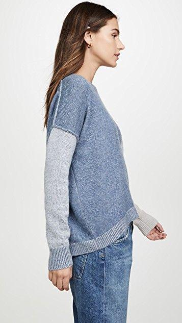 Brochu Walker Ila Colorblock Cashmere Sweater | Cashmere
