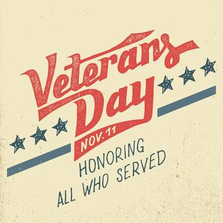 Veterans Day Greeting Card With Hand Drawn Typographic Design In Vintage Style Veterans Day Veterans Day Images Veterans Day Quotes