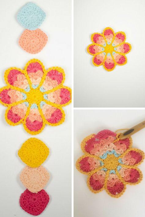 Free Crochet Pattern: Mini Mandala | Crochet Mandala | Pinterest ...
