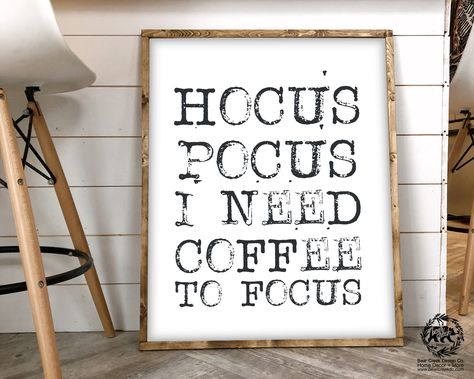 Excited to share this item from my shop: Hocus Pocus I Need Coffee to Focus Printable Halloween Sign Fall Decor Coffee Sign Coffee Bar Sign Decor Farmhouse Halloween Decor Kitchen Halloween Signs, Halloween Home Decor, Halloween Crafts, Halloween Office Decorations, Halloween Ideas, Hocus Pocus Halloween Decor, Printable Halloween Decorations, Halloween Printable, Fall Crafts
