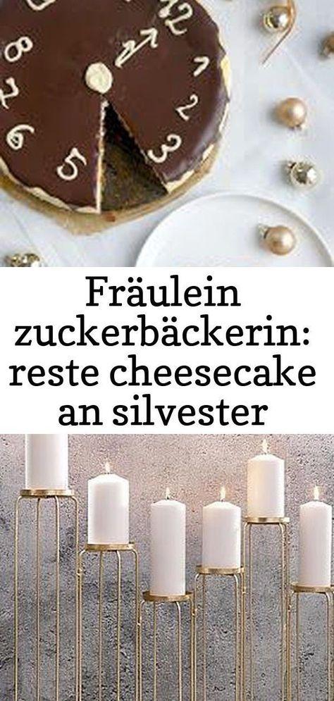 Fräulein Konditor: Überreste von Käsekuchen am Silvesterabend