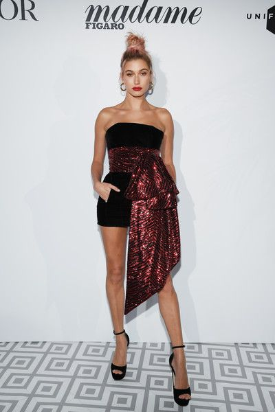 Hailey Baldwin attends a Dior dinner during the 71st annual Cannes Film Festival at JW Marriott.