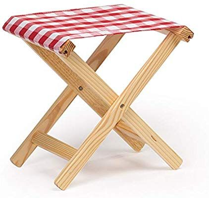 Amazon Com Small Wooden Foldable Stool 14 H Lightweight Small