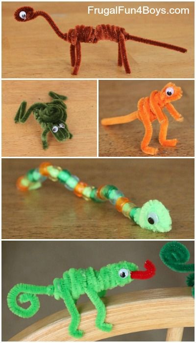 Turn pipe cleaners into all kinds of animals.  It would be fun to make a whole zoo!