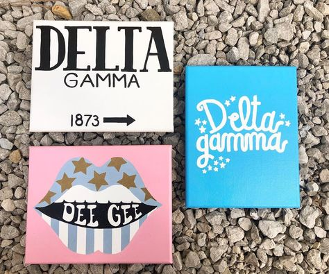Big Little Week, Big Little Reveal, Big Little Gifts, Little Presents, Sorority Shirts, Sorority Crafts, Sorority Paddles, Sorority Recruitment, Delta Gamma Canvas