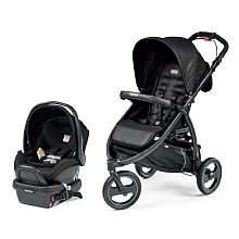 Murdered out stroller! Peg Perego Book Cross Travel System - Mod Black