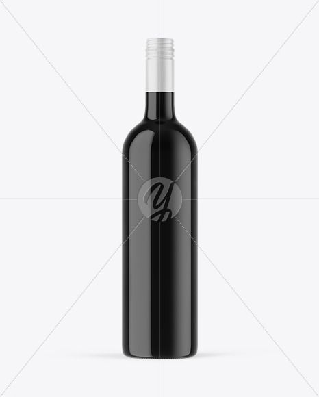 Dark Glass Wine Bottle Mockup In Bottle Mockups On Yellow Images Object Mockups Bottle Mockup Wine Bottle Bottle