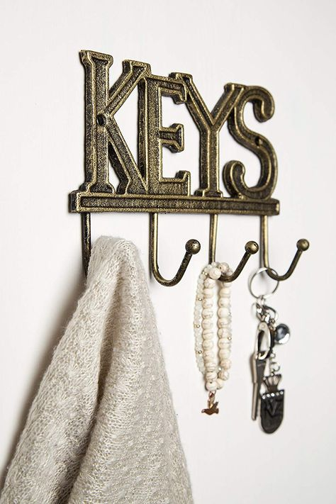 Cast Iron Cactus Hook Fun Design  Clothes Hat Key Towels Wall Hanger