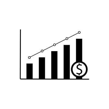 Graphic Bar Of Increase Money Icon Designed For All Application Needed Money Icon Increase Png And Vector With Transparent Background For Free Download Money Icons Data Icon Business Icon