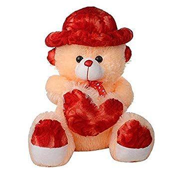 Red Cream Color Cap Teddy Bear 60 Cm By Zoonio Teddy Bear Wallpaper Cute Teddy Bear Pics Teddy