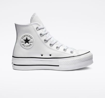 Chuck Taylor All Star Platform Clean Leather High Top in ...