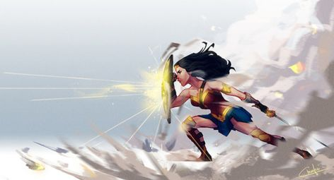 Wonder Woman and her protective magical shield
