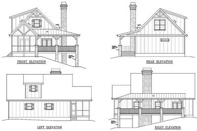 Plan 92319MX: Flexible Mountain Cottage | Mountain house plans ...