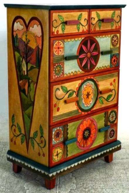 Funky Painted Furniture Ideas Boho