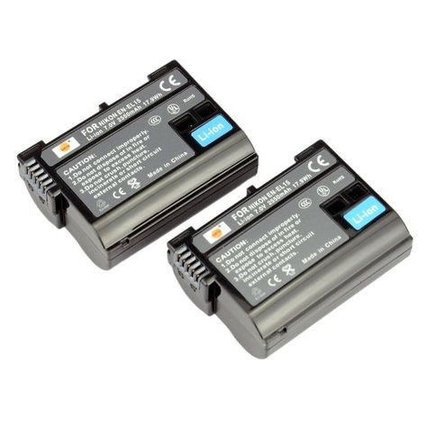 DSTE 2pcs EN-EL15 Li-ion Battery for Nikon EN-EL15 and