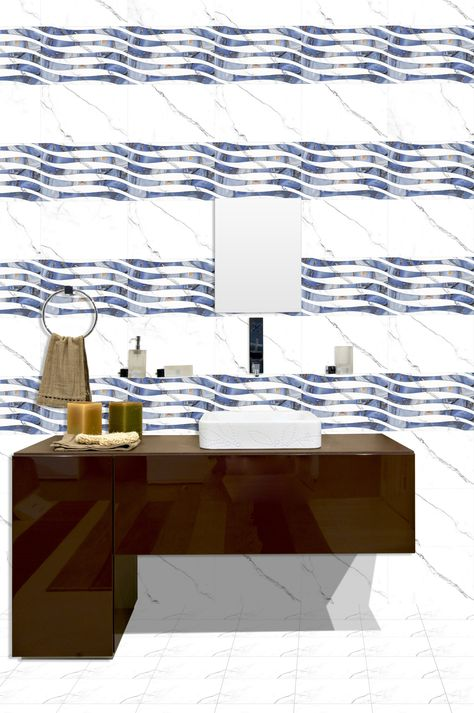 ODH Statuario Wave HL - Orient Bell Bathroom #Tiles with Highlighter