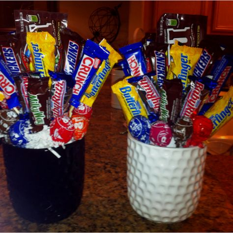 Candy Boquets. Perfect for daddy's birthdays