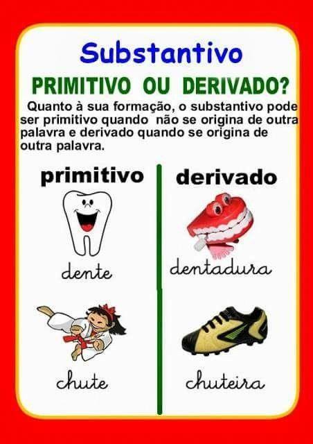 Teachportuguese Com Imagens Substantivo Primitivo Cartazes De