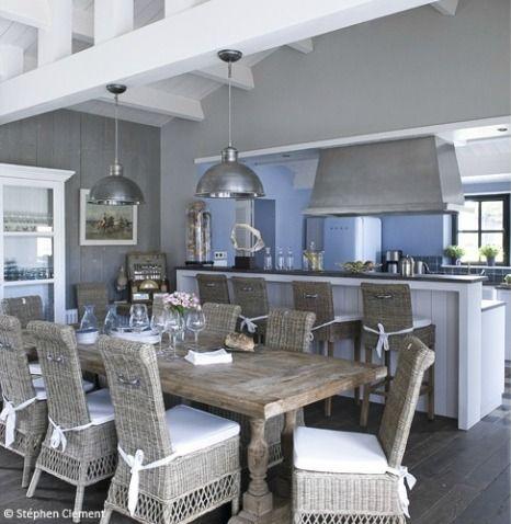 salleamanger #cuisine #deco #bleu #ete #vacances | Homes ...