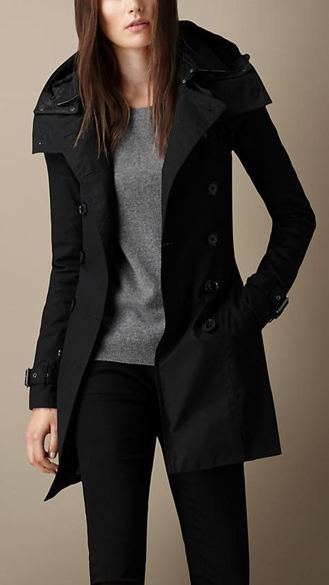 Hooded Trench Coat with Warmer trench coat outfit trench coat outfit ideas trench coa.