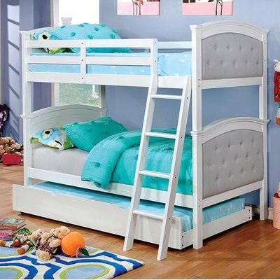 Harriet Bee Galilee Bunk Bed Bed Frame Color White Twin Bunk