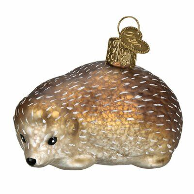 Old World Christmas Hedgehog Hanging Figurine Ornament Old World Christmas Ornaments Old World Christmas Christmas Wall Decor