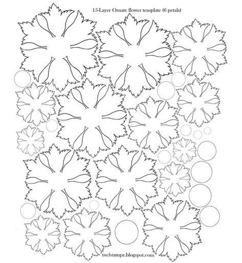 plantillas flores de cuero PLANTILLAS Pinterest Template - flower petal template