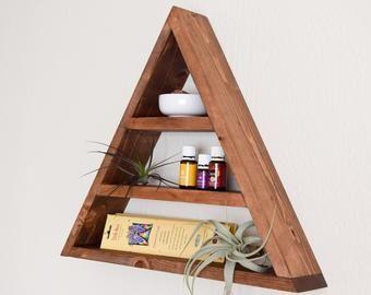 Wood Block Shelf Triangle Etsy With Images Wood Blocks
