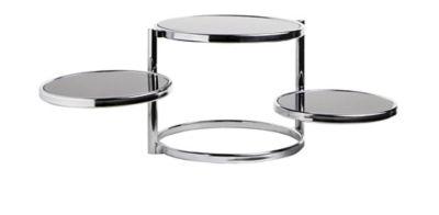Table Basse 3 Plateaux Rondo Noir Table Basse Table Basse Bois