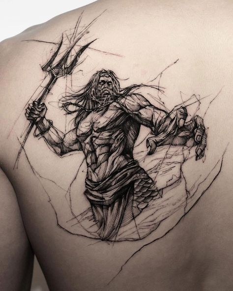 101 Amazing Poseidon Tattoo Ideas You Need To See! | Outsons | Men's Fashion Tips And Style Guide For 2020