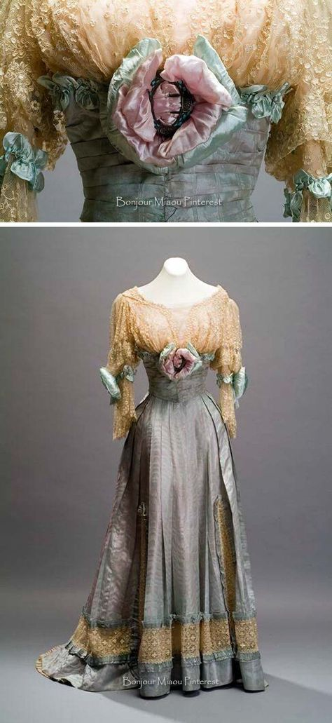 Dress, Doucet, ca. 1905. Three pieces. Silk & cotton. Museum of Mexican History Facebook