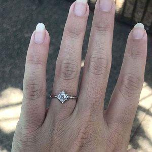 1 1 3 Carat Diamond Engagement Ring Cushion Diamond Ring Etsy In 2020 Princess Diamond Ring Diamond Engagement Rings Cushion Square Diamond Rings