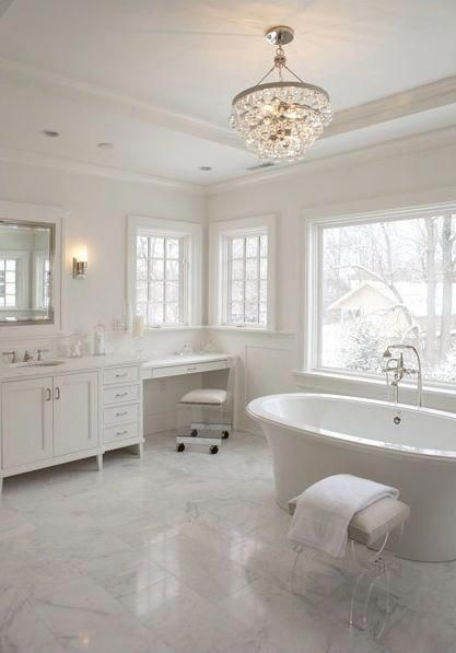 Great Cost Free Master Bathroom Chandelier Ideas In 2020 With