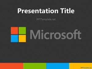 Free microsoft themed ppt template and powerpoint background free microsoft themed ppt template and powerpoint background design showing microsoft company colors and identity for your presentations with micro toneelgroepblik Choice Image