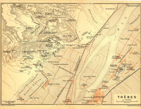 Map of Thebes Luxor and Karnak Egypt by CarambasVintage on ... Thebes Egypt On World Map on ancient egypt red sea map, thebes africa, thebes in egypt, mongolia on world map, city of thebes map,