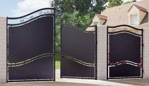Portail Fer Battant Glasgow Noir L 3 56 X H 2 10 M Brico Depot Portail En Fer Portail Portail Exterieur