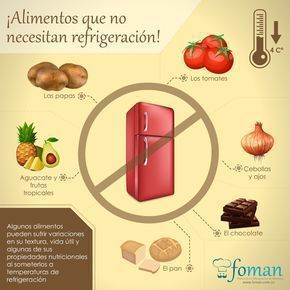 Foods that you should not refrigerate Alimentos que no debes refrigerar Foods that you should not refrigerate