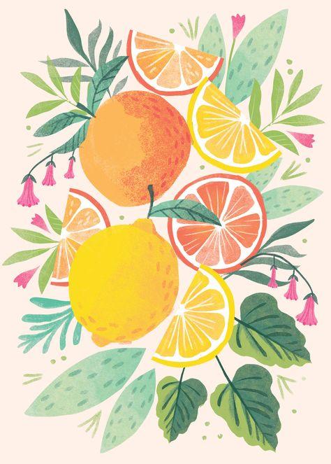 Leading Illustration & Publishing Agency based in London, New York & Marbella. Prints, Watercolor Art, Art Painting, Illustration, Fruit Illustration, Fruit Art, Canvas Art, Art, Art Inspiration