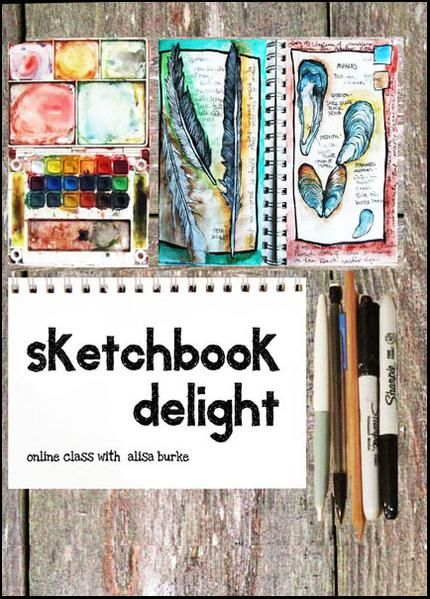 Sketchbook Delight Online Class In 2020 Online Art Classes