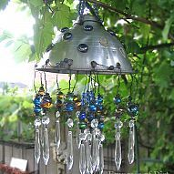 This garden chandelier is true shabby chic, combining old and elegant… :: Hometalk