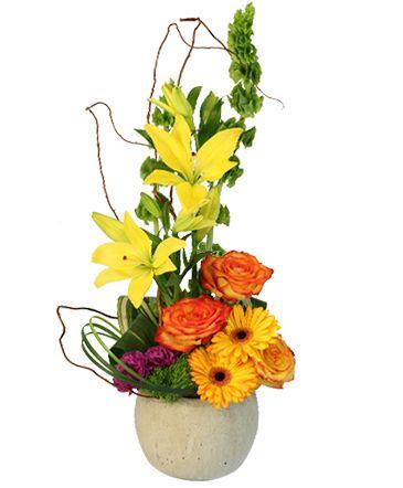 Rich Bold Flower Arrangement Flower Delivery Yellow Flower Arrangements Flower Arrangements