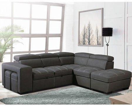 Canape Premium Confort Gris Angle Gauche Canape En 2020 Canape Angle Gris Mobilier De Salon Canape Angle