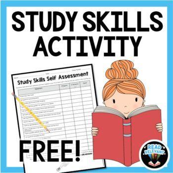 Free Study Skills Activity Self Assessment Worksheet Study Skills Activities Study Skills Skills Activities