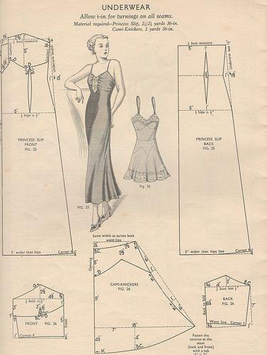 8dc38906a911d Free vintage lingerie patterns | 1930s and 1940s clothes | Lingerie ...